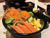 传统日本食物沙拉 免版税库存照片