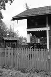 传统木建筑学-诺夫哥罗德博物馆 图库摄影