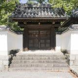 传统木日本寺庙细节  库存图片
