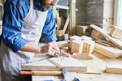 传统木材加工商店 库存照片