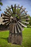 传统木风车 库存图片