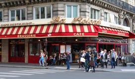 传统法国啤酒店La Rotonde,巴黎,法国 库存图片