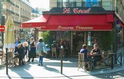 传统法国啤酒店Le Corail 巴黎,法国 库存照片