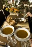 传统法式海鲜汤鱼provencal的炖煮的食物 免版税库存照片