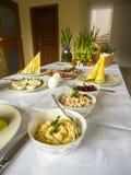 传统波兰复活节桌 免版税图库摄影
