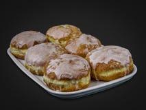 传统波兰油炸圈饼 库存图片