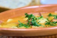 传统波兰烹调-被烘烤的豆- fasolka po bretonsku 库存照片