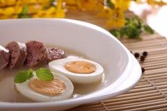 传统波兰的汤 免版税库存照片