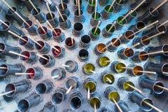 传统泰国冰棍儿制造商被做通过使用汁液倾吐对stai 免版税图库摄影