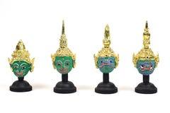 传统泰国演员` s面具 库存图片
