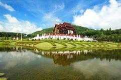 传统泰国结构Lanna样式 免版税库存照片