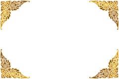 传统泰国金黄框架 库存照片
