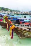 传统泰国长尾巴小船 库存图片