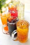 传统泰国饮料、果子和草本冷饮料 免版税库存图片