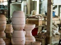 传统泰国Benjarong,陶瓷,泰国 免版税库存图片