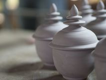 传统泰国Benjarong,陶瓷,泰国 图库摄影