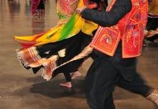 传统消耗或布料典型地佩带了在Navratri期间Garba印度节日  免版税库存照片