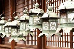 传统灯笼的寺庙 库存图片