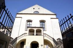 传统犹太教堂在克拉科夫,波兰 图库摄影