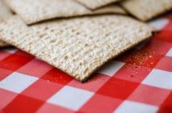 传统犹太食物、Matzoth或者matza 免版税库存照片