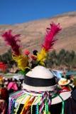 传统玻利维亚的帽子 免版税库存图片