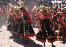 传统玻利维亚的舞蹈 免版税库存图片