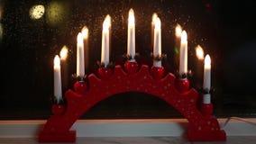 传统瑞典窗口装饰的圣诞节假日 影视素材