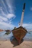 传统的单桅三角帆船 免版税库存照片