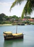 传统的单桅三角帆船 库存图片