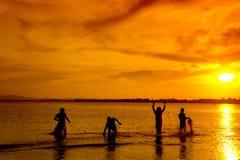 传统的渔夫 免版税库存照片