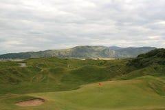 传统的高尔夫球场 库存照片
