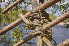 传统篱笆条篱芭领带 免版税库存图片
