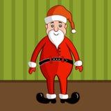 传统红色服装的微笑的圣诞老人 皇族释放例证