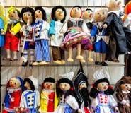 传统纪念品在布拉格,小珠玩具,板材 图库摄影