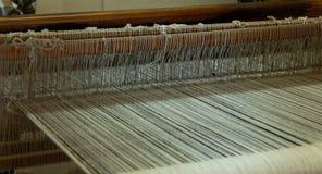 传统织布机细节在瓦哈卡墨西哥 免版税库存图片