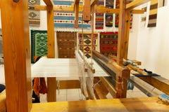 传统织布机细节在瓦哈卡墨西哥 图库摄影
