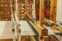 传统织布机细节在瓦哈卡墨西哥 库存图片