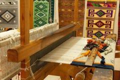 传统织布机细节在瓦哈卡墨西哥 免版税图库摄影