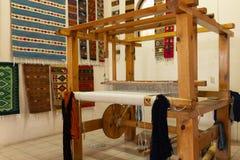 传统织布机细节在瓦哈卡墨西哥 免版税库存照片