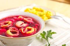 传统罗宋汤的圣诞节 免版税库存图片