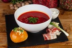 传统罗宋汤碗 免版税库存照片