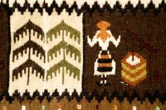 传统罗马尼亚的地毯 库存图片