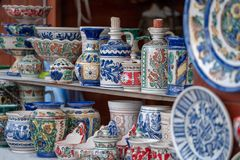 传统罗马尼亚陶瓷 免版税库存照片