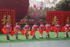 传统美丽的服装的舞蹈演员 免版税库存图片