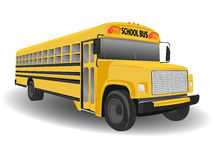 传统美国公共汽车的学校 免版税库存图片