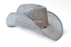 传统美国牛仔帽的秸杆 免版税库存图片