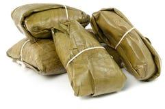 传统美国食物拉丁的玉米粽子 免版税图库摄影