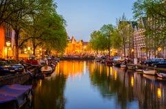 传统老大厦在阿姆斯特丹, Netherland 免版税库存图片
