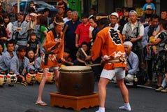 传统节日的matsuri 库存照片