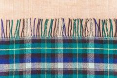 传统苏格兰羊毛布料和亚麻布 图库摄影